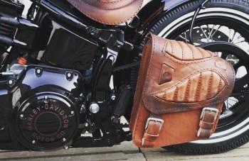 """Satteltasche """"Spider"""" für Harley Davidson"""