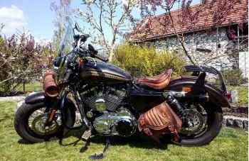 Harley Davidson motorrad sitz