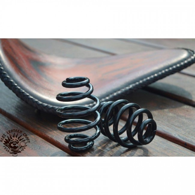 "Bobber Seat springs 3"" (76 mm) Custom Black"