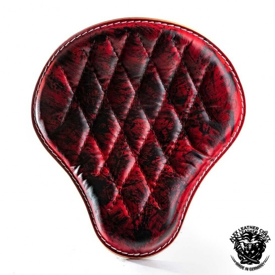 Universal Bobber Seat Red and Black Diamond S, model A (Warehouse Sale)