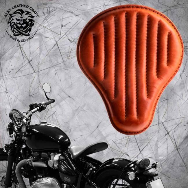 """Triumph Bonneville Bobber Seat since 2016 """"Standard"""" Cognac V2"""