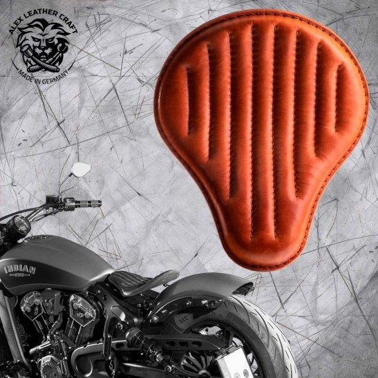 "Bobber Solo Seat for Indian Scout since 2017 ""Standard"" Cognac V2"