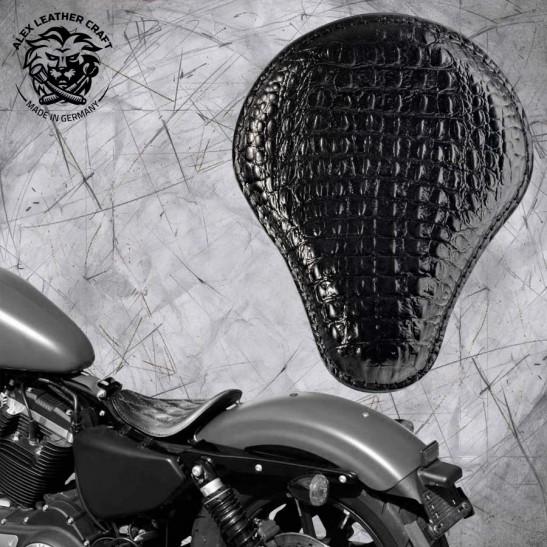 Solo Selle Harley Davidson Sportster 04-20 Croco noir