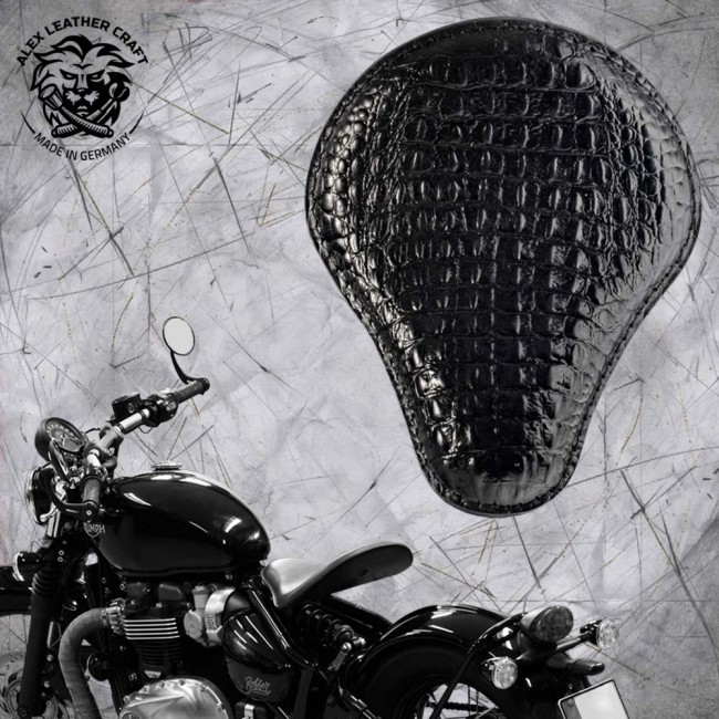 Triumph Bonneville Bobber Selle de 2016 Croco noir
