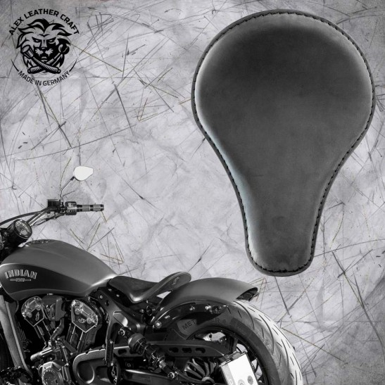 """Bobber Solo Seat for Indian Scout since 2017 """"Long"""" Velour"""