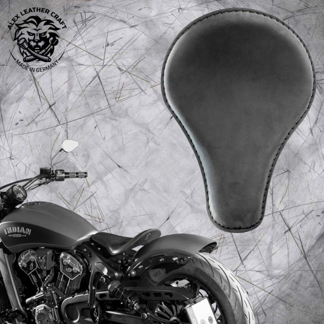 "Bobber Solo Seat for Indian Scout since 2017 ""Long"" Velour"