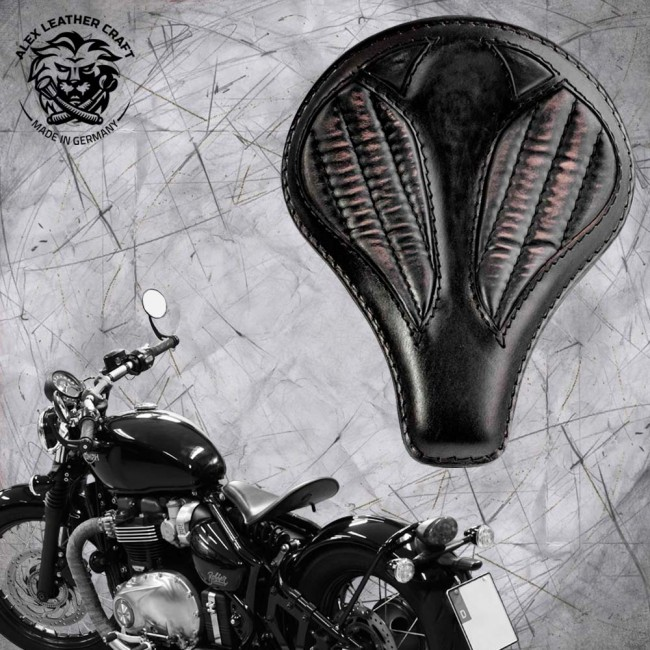 """Triumph Bonneville Bobber Seat since 2016 """"Long"""" Vintage Black V2"""