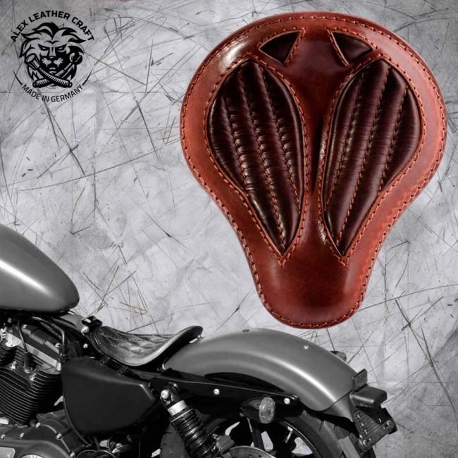 "Solo Sitz Harley Davidson Sportster 04-20 ""Kurz"" Büffel Braun V2"