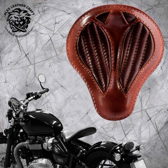 "Triumph Bonneville Bobber Selle de 2016 ""Standard'' Short Buffalo Brown V2"