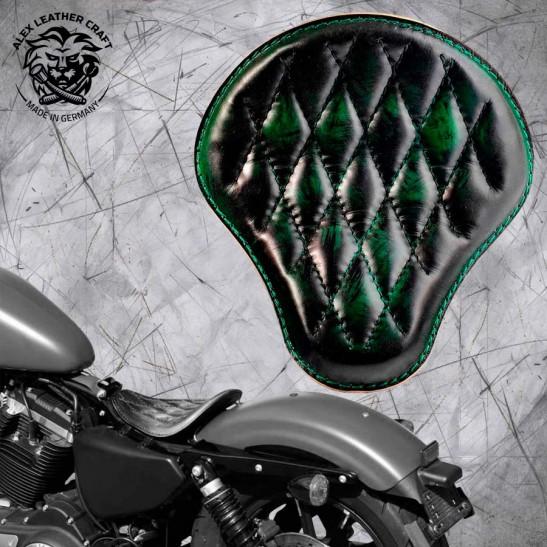 Solo Seat Harley Davidson Sportster 04-20 Emerald Diamond