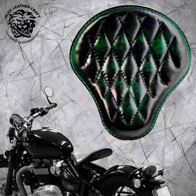 "Triumph Bonneville Bobber Seat since 2016 ""Standard"" Emerald Diamond"