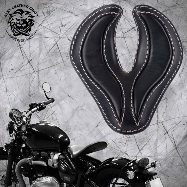"Triumph Bonneville Bobber Seat since 2016 ""King Cobra"" Black"