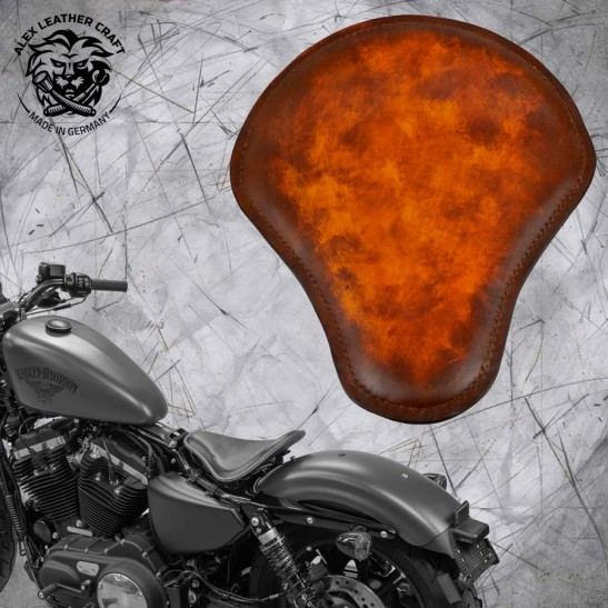 Seat + Montage Kit Harley Davidson Sportster 04-20 Crazy boom V2