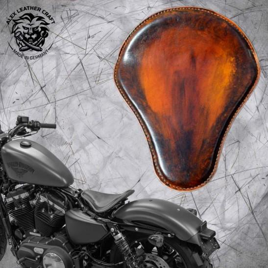 Sitz + Montage Kit Harley Davidson Sportster 04-20 Crazy boom