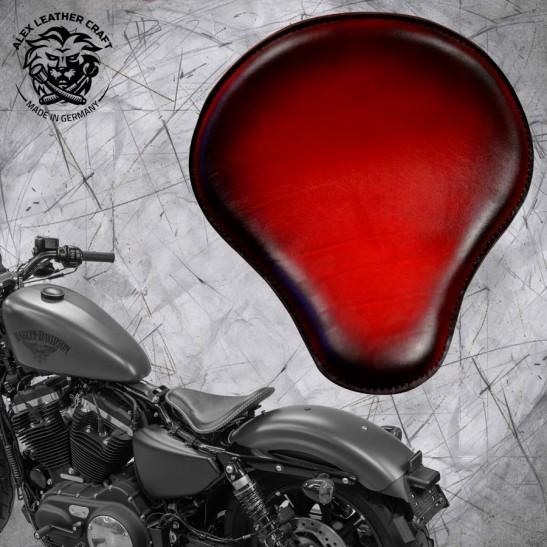 Sitz + Montage Kit Harley Davidson Sportster 04-20 Rot