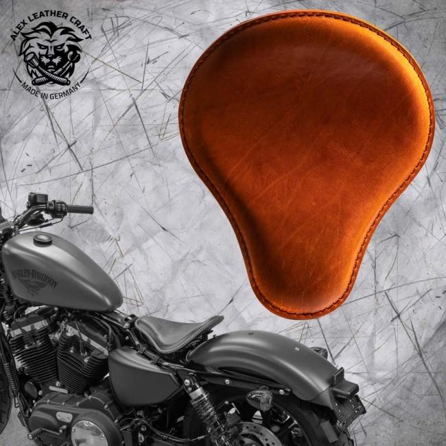 Seat + Montage Kit Harley Davidson Sportster 04-20 Buffalo Cognac