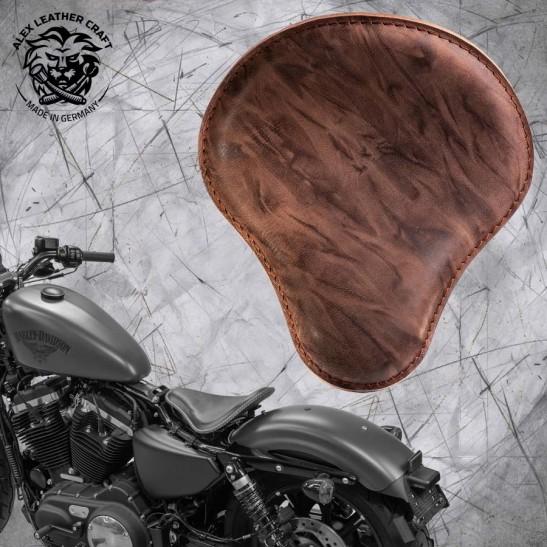 Sitz + Montage Kit Harley Davidson Sportster 04-20 Büffel Mocca