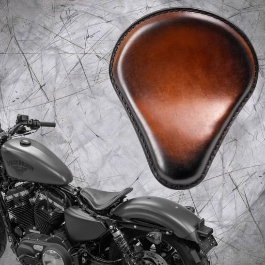 Sitz + Montage Kit Harley Davidson Sportster 04-20 Sattel Tan
