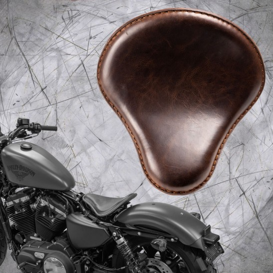 Seat + Montage Kit Harley Davidson Sportster 04-20 Buffalo Dark Brown
