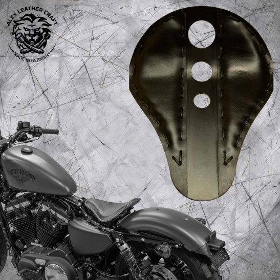 Seat + Montage Kit Harley Davidson Sportster 04-20 Trinity Black