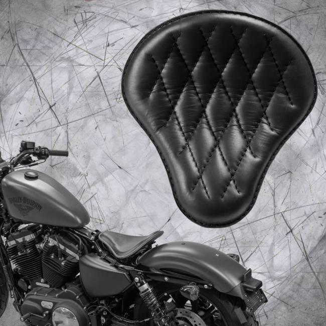 Seat + Montage Kit Harley Davidson Sportster 04-20 Black Diamond