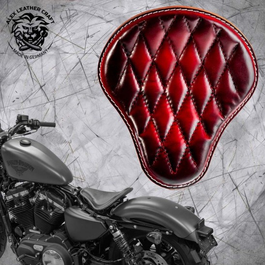 Seat + Montage Kit Harley Davidson Sportster 04-20 Red Diamond