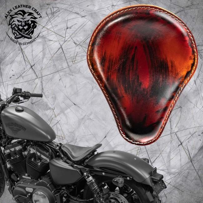Seat + Montage Kit Harley Davidson Sportster 04-20 Crazy Boom V3