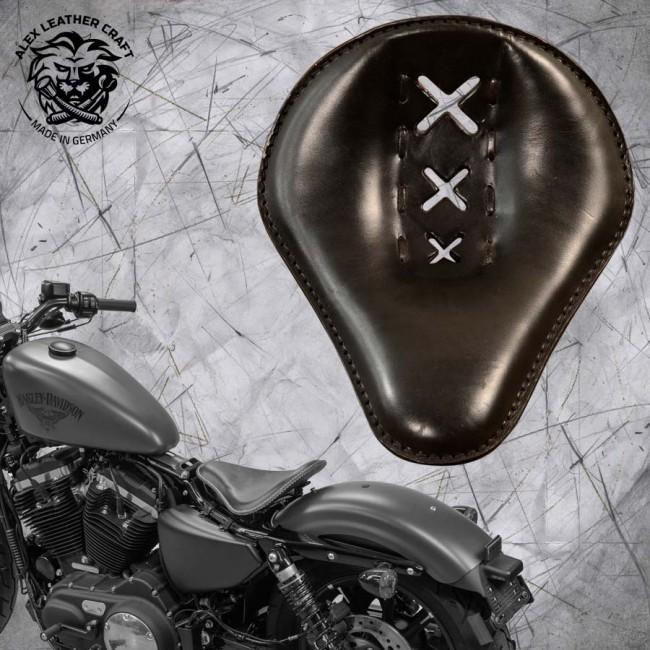 "Seat + Montage Kit Harley Davidson Sportster 04-20 ""Amsterdam"" Black"
