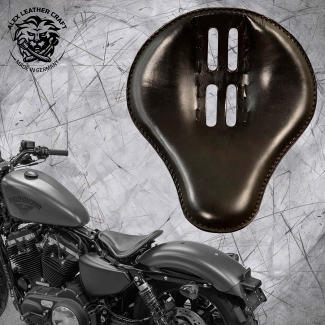 "Seat + Montage Kit Harley Davidson Sportster 04-20 ""4Fourth"" Black"