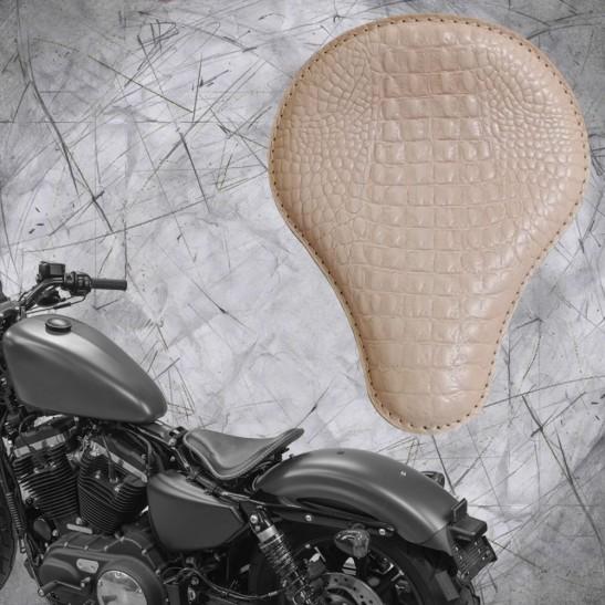 Solo Sitz + Montage Kit Harley Davidson Sportster 04-20 Kroko Natur