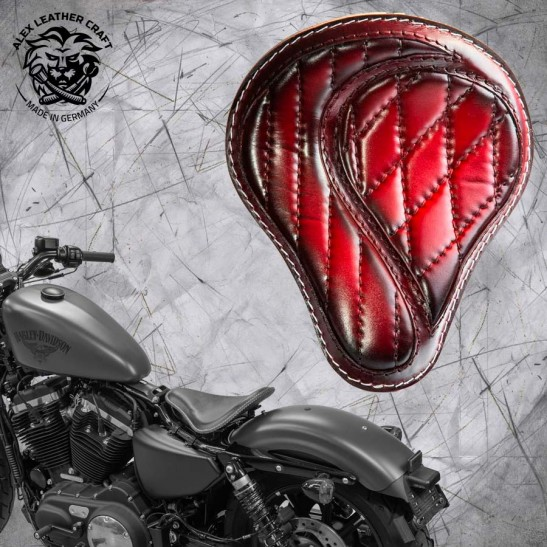 """Solo Seat + Montage Kit Harley Davidson Sportster 04-20 """"No-compromise"""" Red"""