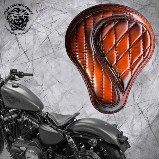 """Solo Sitz + Montage Kit Harley Davidson Sportster 04-20 """"No-compromise"""" Sattel Tan"""