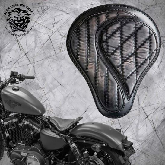 """Solo Seat + Montage Kit Harley Davidson Sportster 04-20 """"No-compromise"""" Vintage Black"""