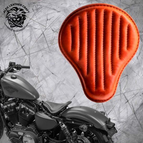 Solo Selle + Montage Kit Harley Davidson Sportster 04-20 Cognac V2