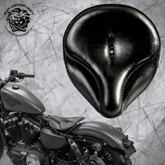 "Solo Sitz + Montage Kit Harley Davidson Sportster 04-20 ""Oldtimer"" Schwarz"
