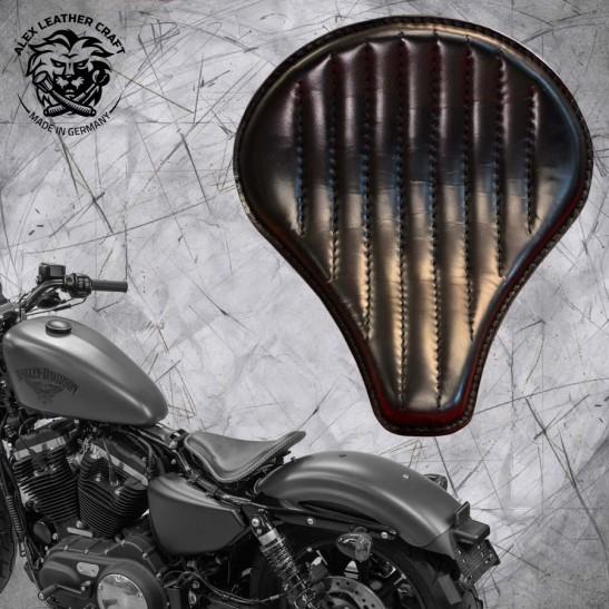"Solo Sitz + Montage Kit Harley Davidson Sportster 04-20 ""Lang"" Schwarz V2"