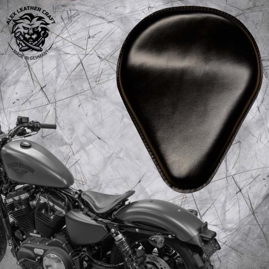 """Solo Sitz + Montage Kit Harley Davidson Sportster 04-20 """"Tropfen"""" Schwarz"""