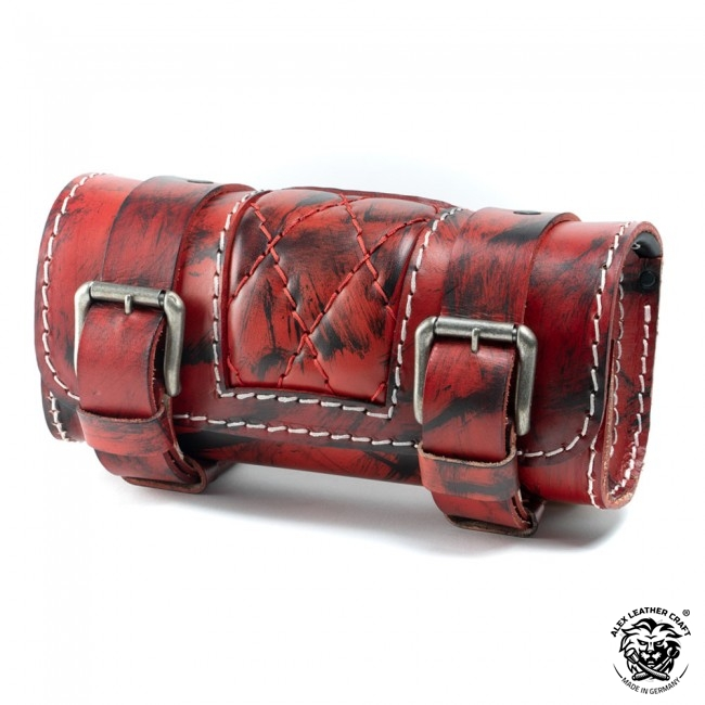 Motorcycle tool bag Red and Black Diamond