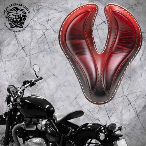 "Triumph Bonneville Bobber Sitz ab 2016 ""King Cobra"" Rot"