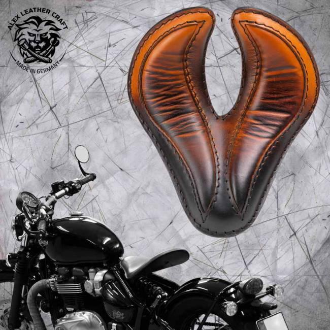 "Triumph Bonneville Bobber Seat since 2016 ""King Cobra"" Saddle Tan"