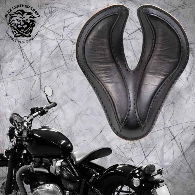 """Triumph Bonneville Bobber Seat since 2016 """"King Cobra"""" Vintage Black"""