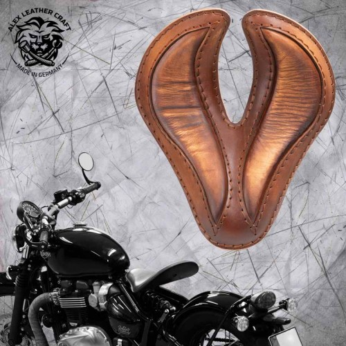 "Triumph Bonneville Bobber Sitz ab 2016 ""King Cobra"" Vintage Braun"