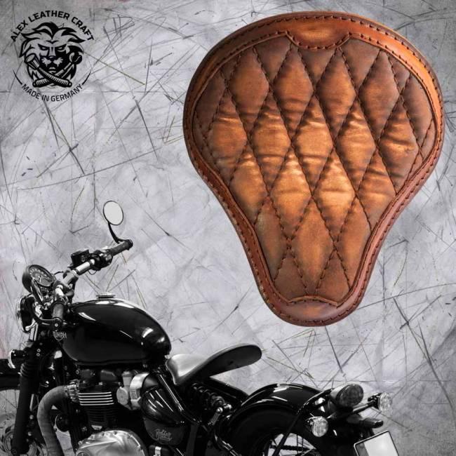 Triumph Bonneville Bobber Seat since 2016 Vintage Brown Luxury Diamond