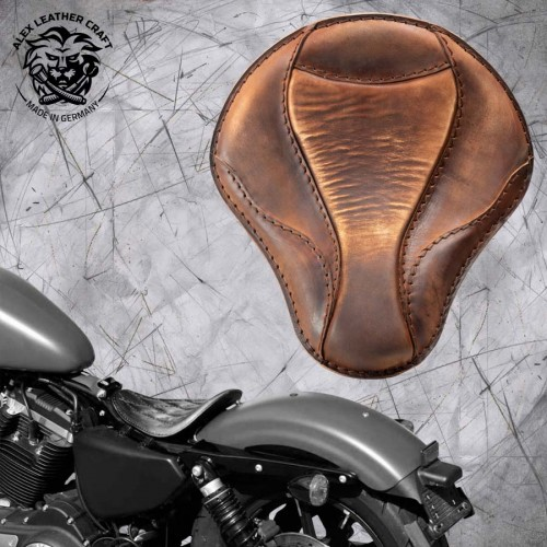 "Solo Sitz Harley Davidson Sportster 04-20 ""El Toro"" Vintage Braun"