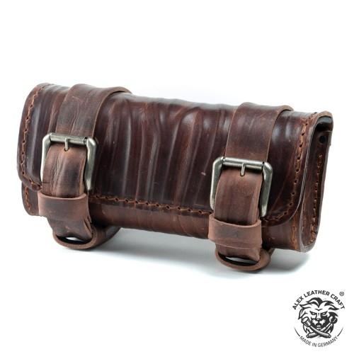 """Motorrad Werkzeugrolle """"Knitter"""" Vintage Braun"""