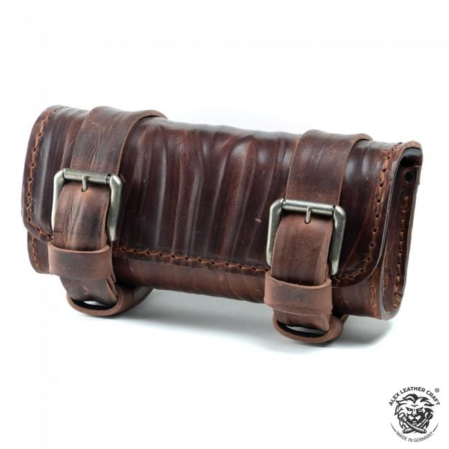"""Motorcycle tool bag """"Wrinkle"""" Vintage Brown"""
