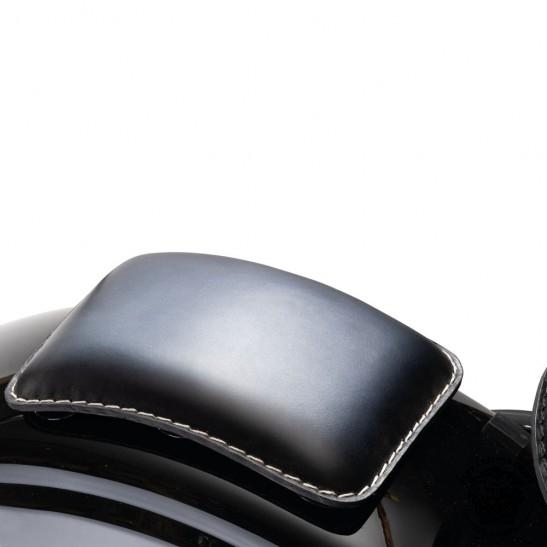 Pillion Seats Pads Harley Bobber Custom Universal Black and White