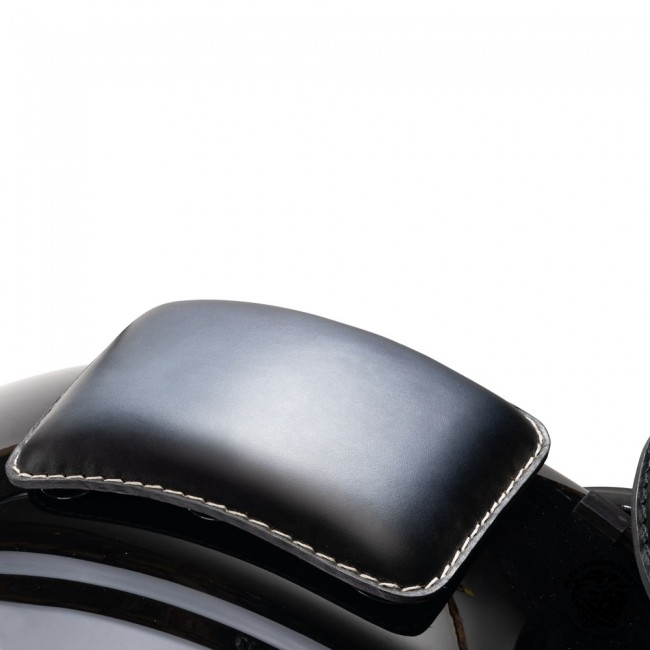 Sozius Sitz Sitzpad Harley Bobber Custom Universal Schwarz und Weiß