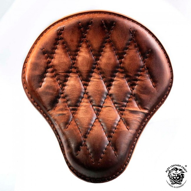 Bobber & Chopper Custom Seat Vintage Brown Diamond
