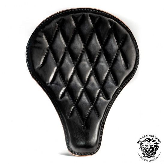 """Bobber Seat """"Long"""" Black Hand sewn V3"""